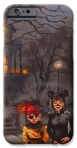 Halloween Trick or Treat iPhone Case by Tom Shropshire