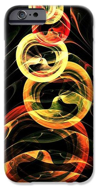 Concept Mixed Media iPhone Cases - Halloween Vision iPhone Case by Anastasiya Malakhova