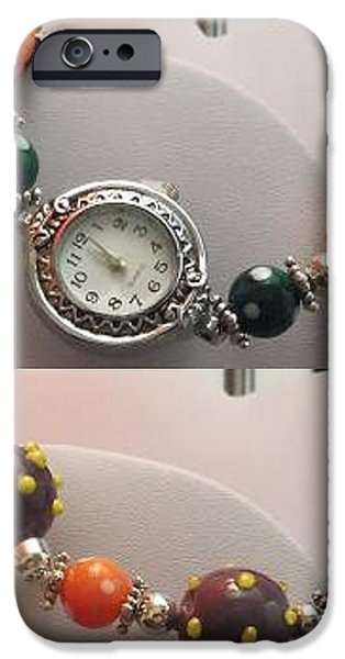 Yellow Jewelry iPhone Cases - Halloween Watch iPhone Case by Kimberly Johnson