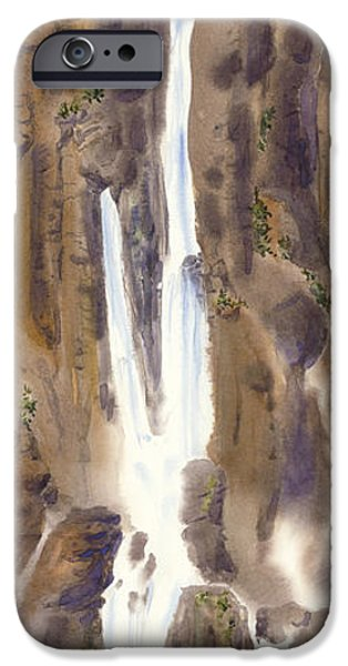 Michael Paintings iPhone Cases - Hamakua Falls iPhone Case by Michael Donenfeld