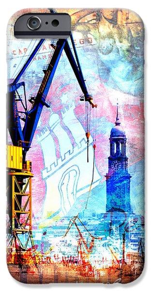 Hamburg Digital iPhone Cases - Hamburg - Meine Perle iPhone Case by Marc Huebner