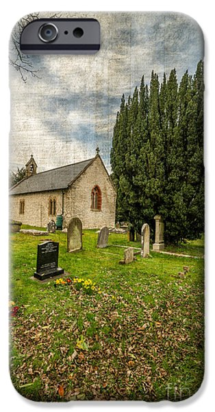 13th Century iPhone Cases - Hamlet Church iPhone Case by Adrian Evans