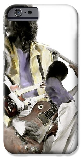 Jimmy Page iPhone Cases - Hammer of The Gods IV Jimmy Page iPhone Case by Iconic Images Art Gallery David Pucciarelli