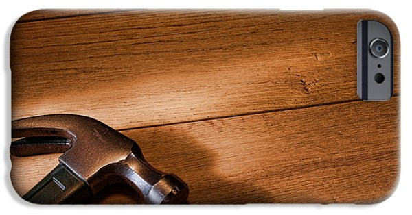 Diy iPhone Cases - Hammer on Wood iPhone Case by Olivier Le Queinec