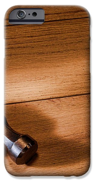 Hammer on Wood iPhone Case by Olivier Le Queinec