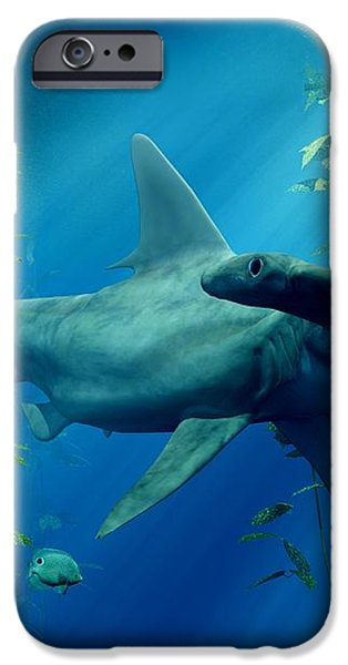 Hammerhead iPhone Case by Daniel Eskridge