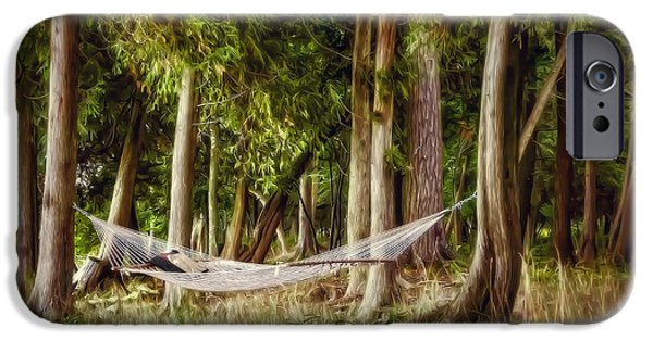 Nap iPhone Cases - Hammock Heaven iPhone Case by Scott Norris