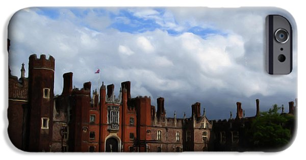 Castle iPhone Cases - Hampton Court iPhone Case by Jenny Armitage