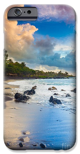 Drama iPhone Cases - Hana Bay Palette iPhone Case by Inge Johnsson