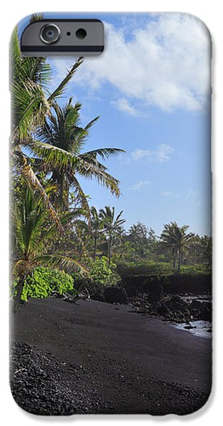 Hana Bay Palms iPhone Case by Inge Johnsson