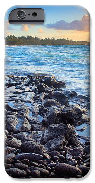 Hana Bay Sunrise iPhone Case by Inge Johnsson