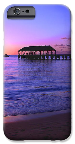 Hanalei Bay Pier Sunset iPhone Case by Brian Harig