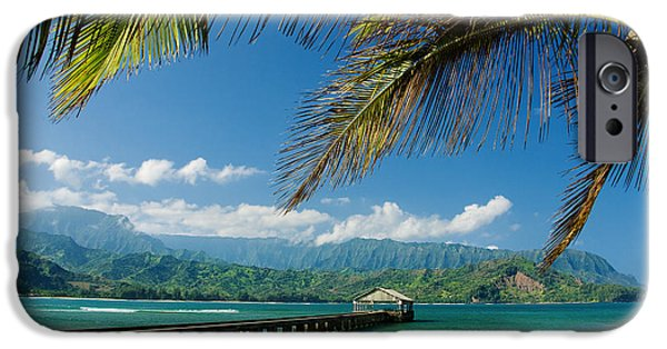 Printscapes - iPhone Cases - Hanalei Pier and beach iPhone Case by M Swiet Productions