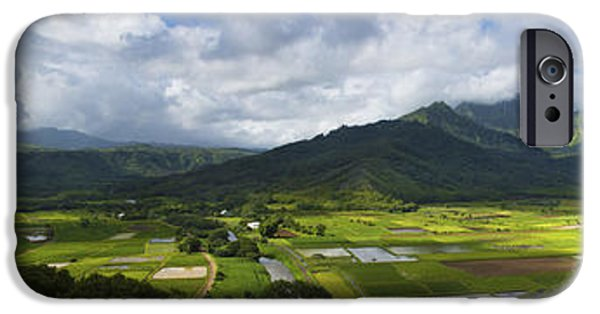 Field. Cloud iPhone Cases - Hanalei Valley Panorama - Kauai Hawaii iPhone Case by Brian Harig