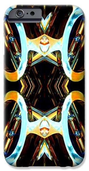 Socal Mixed Media iPhone Cases - Hand Cuffs iPhone Case by Romy Galicia