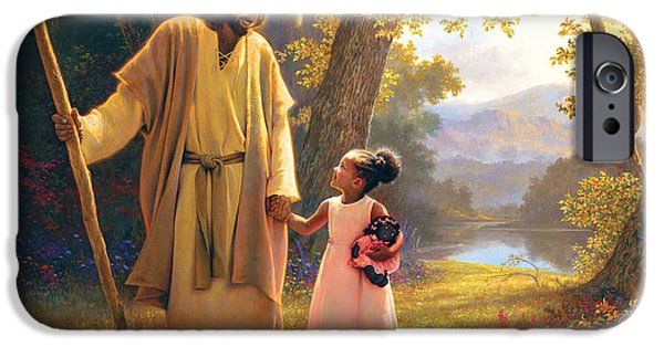 Child iPhone Cases - Hand in Hand iPhone Case by Greg Olsen