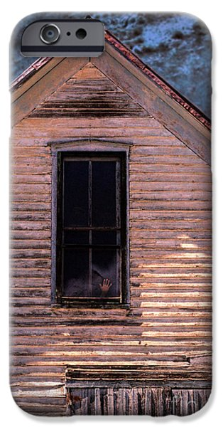 Haunted House iPhone Cases - Hand in Window iPhone Case by Jill Battaglia
