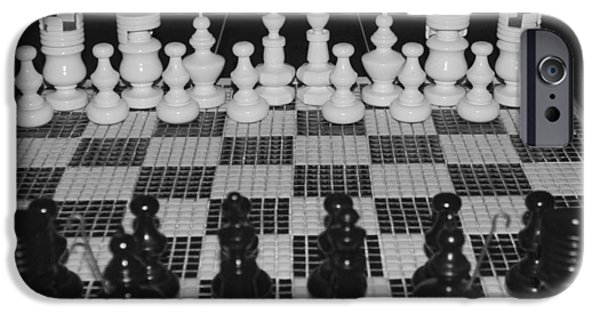 One Pyrography iPhone Cases - Hand Made Chess Set and Board iPhone Case by DUG Harpster