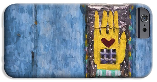 Vivid Mixed Media iPhone Cases - Hand-Painted Mailbox Painterly Effect iPhone Case by Carol Leigh