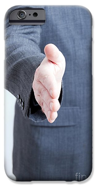 Negotiating iPhone Cases - Hand shake gesture iPhone Case by Antony McAulay