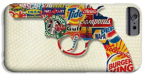 Business Digital iPhone Cases - Handgun Logos iPhone Case by Gary Grayson