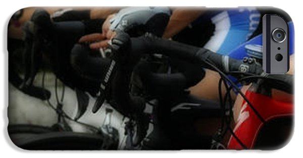 Racing iPhone Cases - Handlebars are for hands iPhone Case by Steven  Digman
