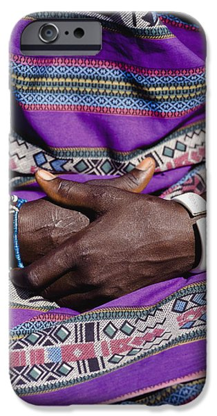 Ethiopian Woman iPhone Cases - Hands iPhone Case by Ian Cumming