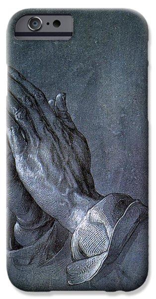 Hands of an Apostle 1508 iPhone Case by Albrecht Durer