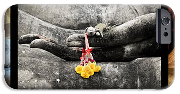 Buddhist iPhone Cases - Hands of Buddha iPhone Case by Adrian Evans