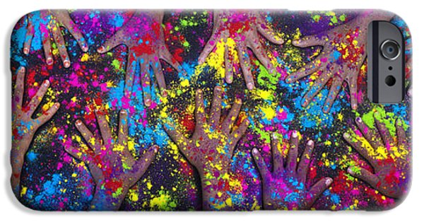 Child iPhone Cases - Hands of Colour iPhone Case by Tim Gainey