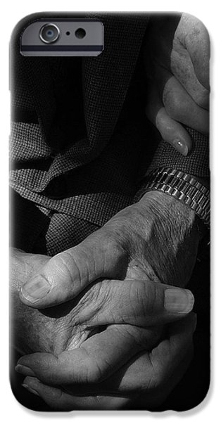 Women Together iPhone Cases - Hands Of Time iPhone Case by Steven Milner