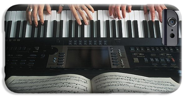 Piano iPhone Cases - Hands On Keyboard iPhone Case by Kelly Redinger