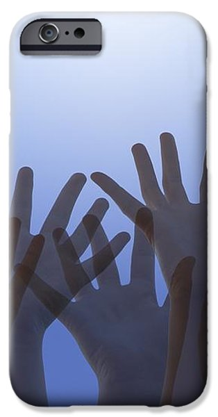 Hands Raised In Worship iPhone Case by Colette Scharf