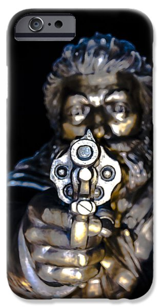 Police Officer iPhone Cases - Hands up  iPhone Case by Sotiris Filippou
