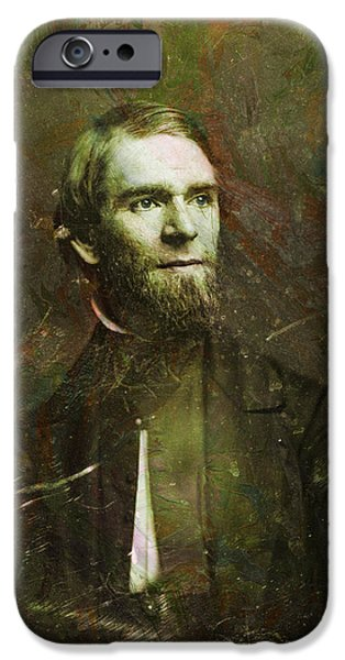 Handsome People iPhone Cases - Handsome Fellow 2 iPhone Case by James W Johnson