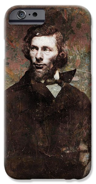 Handsome People iPhone Cases - Handsome Fellow 4 iPhone Case by James W Johnson