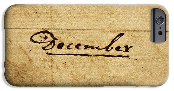 Religious iPhone Cases - Handwritten December iPhone Case by Dan Radi