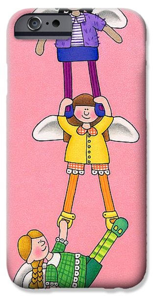 Seraphim Angel iPhone Cases - Hang In There iPhone Case by Sarah Batalka