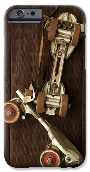 Skates iPhone Cases - Hang Up Your Skates - Oil iPhone Case by Edward Fielding