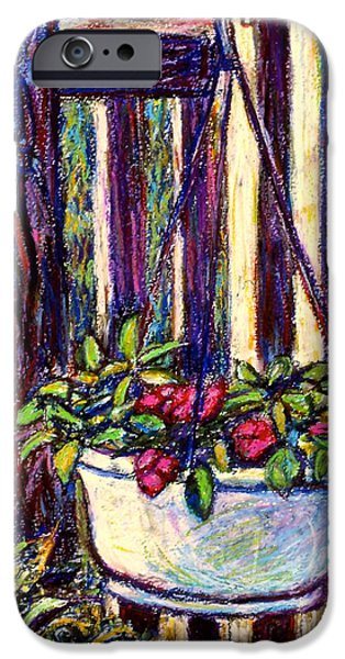 Basket Pastels iPhone Cases - Hanging Beauty iPhone Case by Kendall Kessler