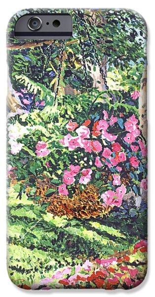 Plein Air iPhone Cases - Hanging Flower Basket iPhone Case by David Lloyd Glover