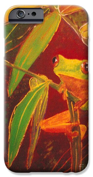 Sheets Glass Art iPhone Cases - Hanging in there iPhone Case by Anna Skaradzinska