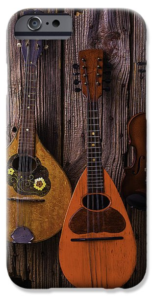 Hand-made iPhone Cases - Hanging Instruments iPhone Case by Garry Gay