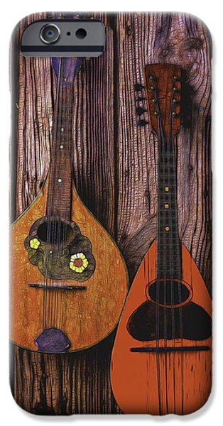 Hand-made iPhone Cases - Hanging Mandolins iPhone Case by Garry Gay