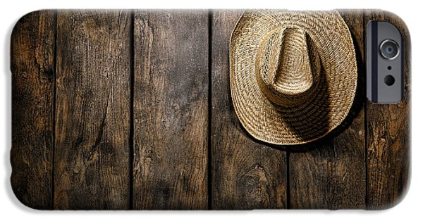 Board iPhone Cases - Hanging my Hat iPhone Case by Olivier Le Queinec