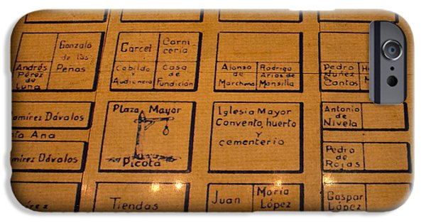 Hangman iPhone Cases - Hangmans Square In Old Downtown Cuenca Ecuador iPhone Case by Al Bourassa