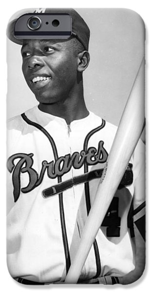 Hank Aaron Poster iPhone Case by Gianfranco Weiss