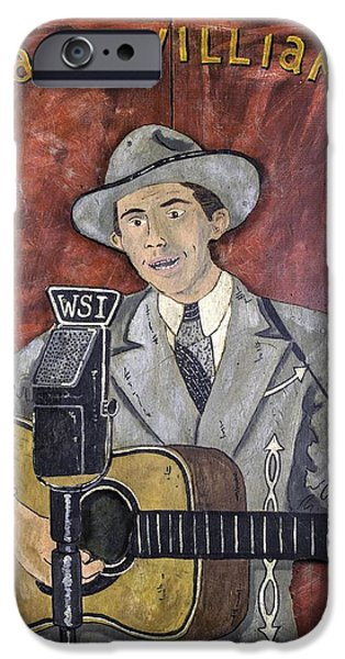 Nashville Tennessee Paintings iPhone Cases - Hank Williams iPhone Case by Eric Cunningham