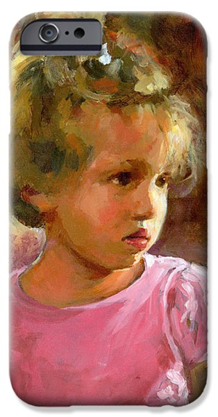 Little Girl iPhone Cases - Hannah iPhone Case by Douglas Simonson