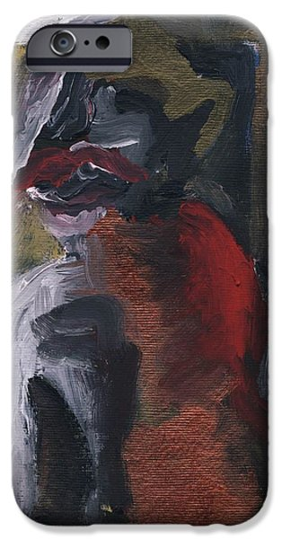 Mick Jagger Paintings iPhone Cases - Hannibal iPhone Case by Marina Sotiriou